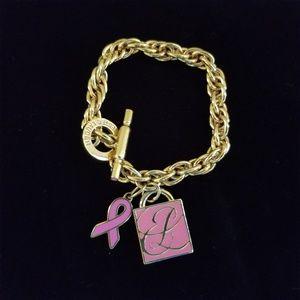 Estee Lauder Pink Charm Breast Cancer Bracelet